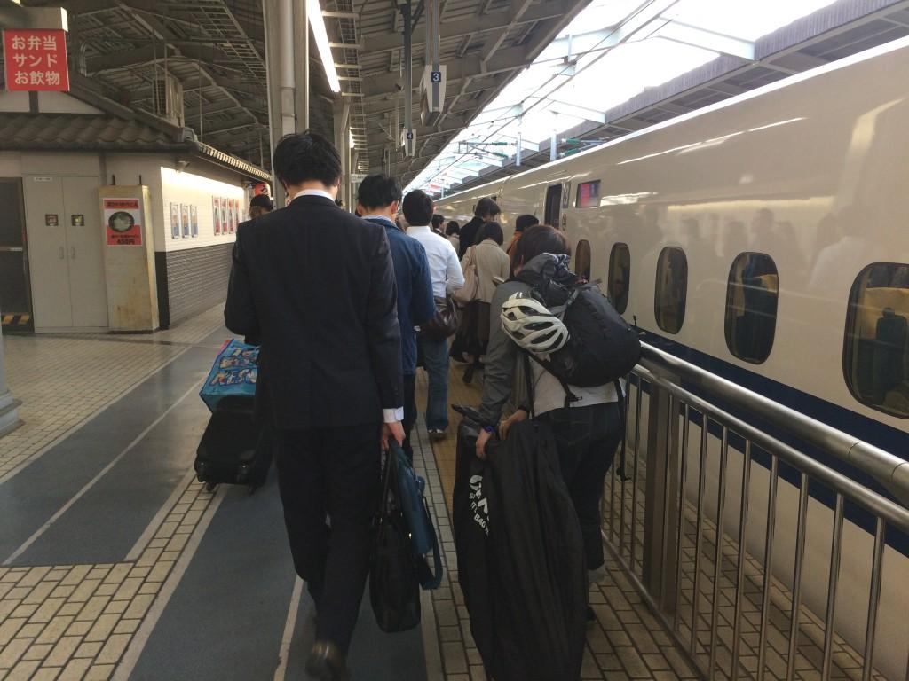 新幹線,ロードバイク,輪行