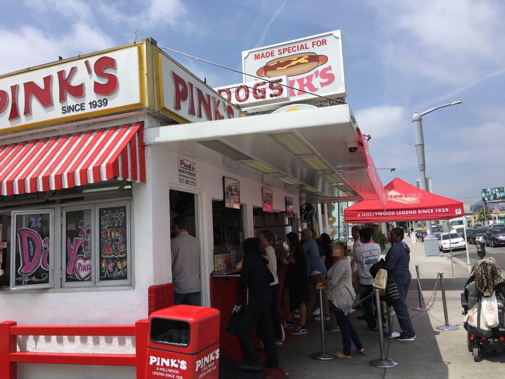 ホットドック Pinks ロサンゼルス
