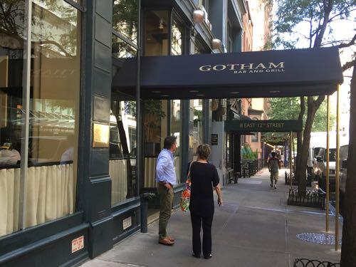 Gotham Bar & Grill,観光,ニューヨーク,ランチ,ディナー,レストランウィーク